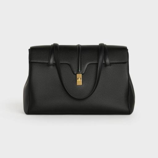 LARGE SOFT 16 BAG IN SUPPLE GRAINED CALFSKIN/ BLACK  COLOUR