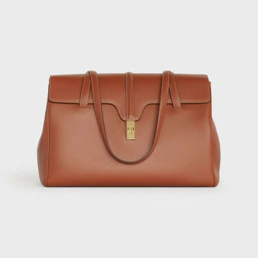 LARGE SOFT 16 BAG IN SMOOTH CALFSKIN/ TAN COLOUR