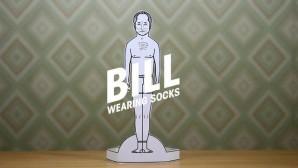 Bill Wearing Socks